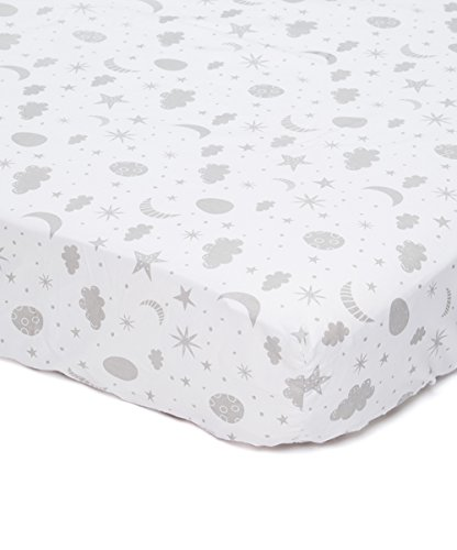 Spasilk 100 Cotton Fitted Pattern Crib Sheet Grey