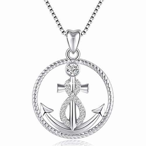 925 Sterling Silver Anchor And Infinity Nautical Symbol Of Hope