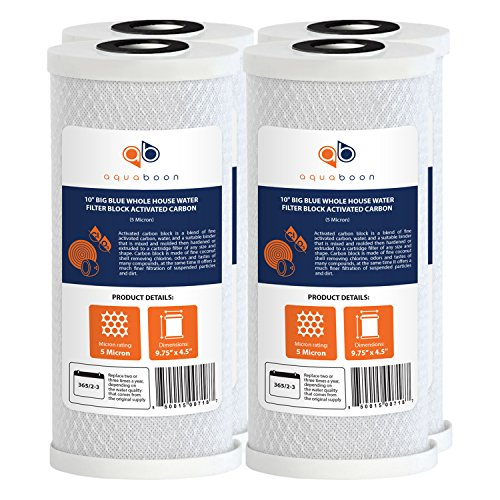 """1 Micron Carbon Water Filter Cartridge Set New 10/"""" x 4.5/"""" Pleated Sediment"""