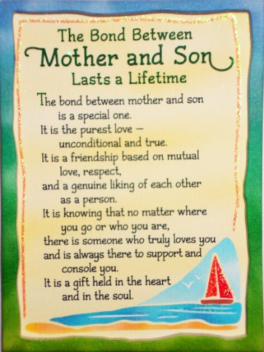Miniature Easel Print With Magnet The Bond Between A Mother And Son 36 X 49
